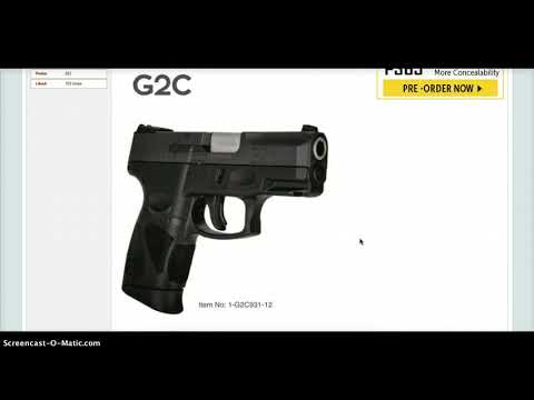 Breaking News! Taurus PT111 G2 is no more   meet the slightly revised  Taurus G2C!