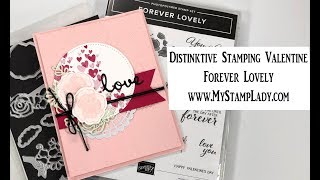 Forever Lovely Distinktive Image Wedding or Valentine's Day Card