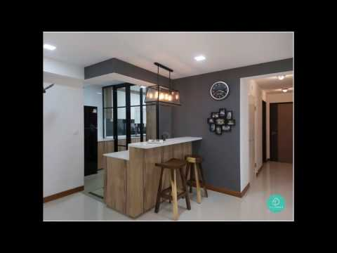 Kitchen design for 4 room hdb flat