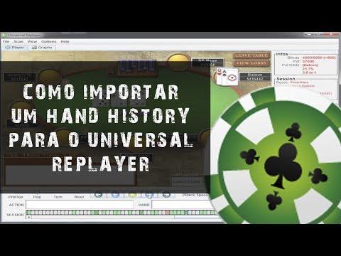 Como usar o Universal Replayer (Importar um hand history para dentro do software)