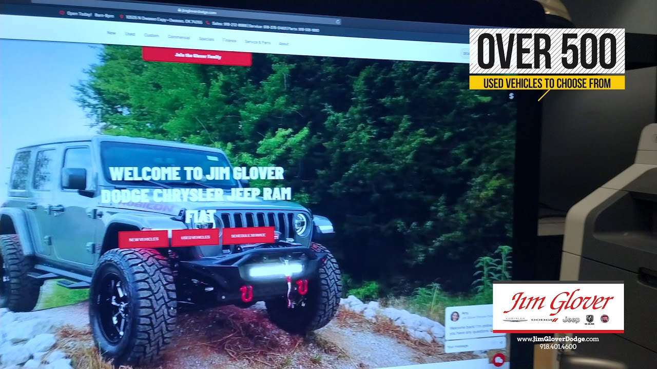Jim Glover Dodge Chrysler Jeep Ram Fiat More Than 100 Vehicles For