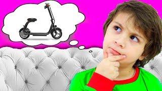 Кто БЫСТРЕЕ Папа или Камиль? Потратили ВСЕ ДЕНЬГИ Купили САМОКАТЫ! Видео для детей funny playtime