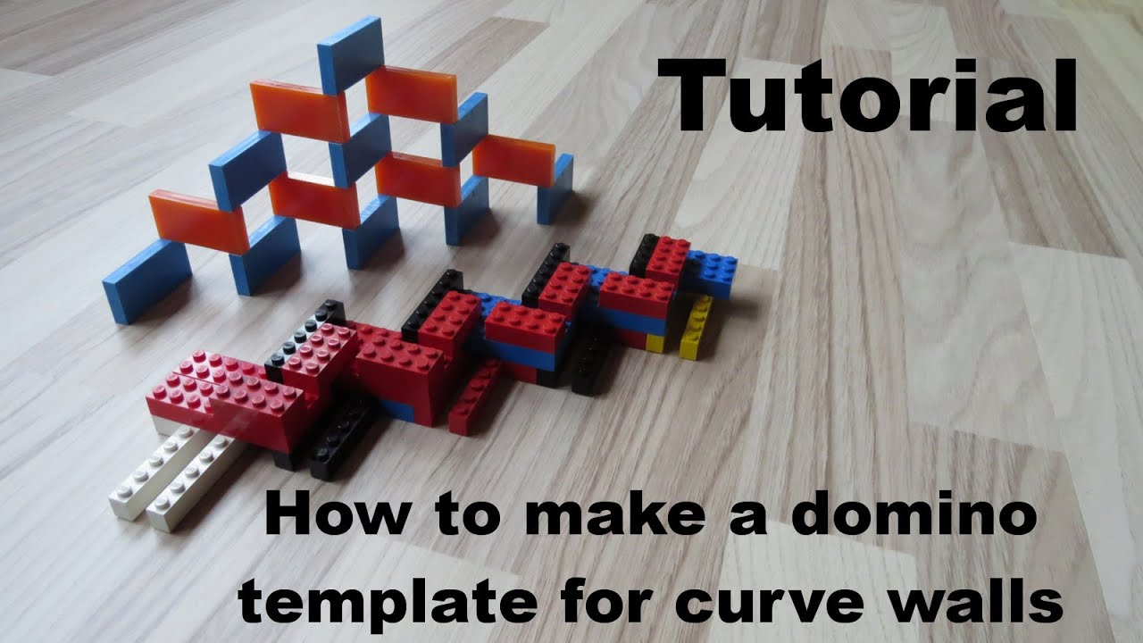Tutorial: How to make a domino template for curve walls