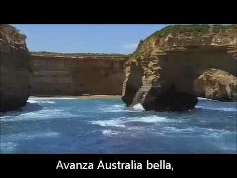 Australian national anthem with Spanish subs (Himno nacional Australiano con subtitulos)