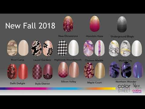 Color Street Fall 2018 New Sryles - YouTube