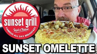 Sunset Grill ☀️ Sunset Omelette, Coffee and Fresh Orange Juice $19.05