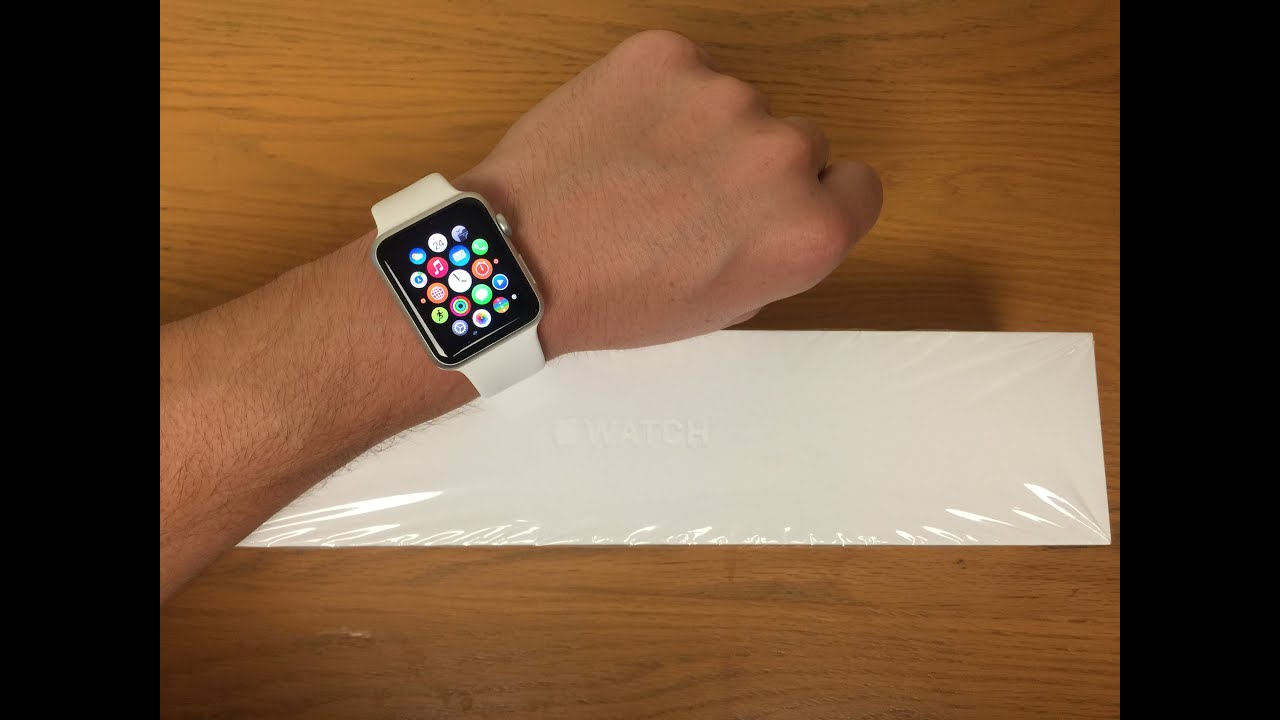 Apple Watch Unboxing 42mm Sport White Youtube