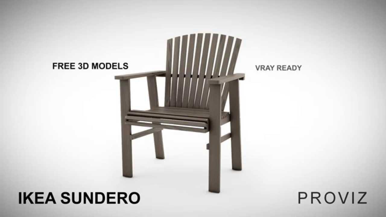 Ikea falster garden furniture design youtube - Free 3d Models Ikea Sundero Outdoor Furniture Series