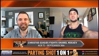 UFC vet Christos Giagos ACB 71 fight Saturday and training with Tony Ferguson