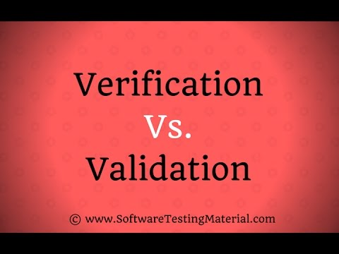 Verification Vs Validation In Software Testing