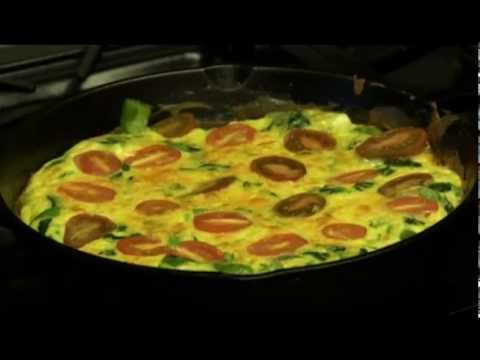 How To Cook a Tomato and Spinach Frittata