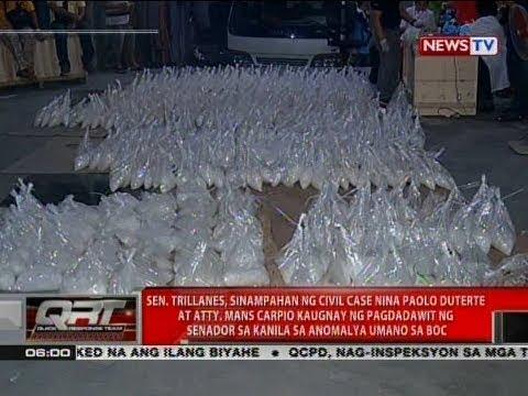 QRT: Sen. Trillanes, sinampahan ng civil case nina Paolo Duterte at Atty. Mans Carpio