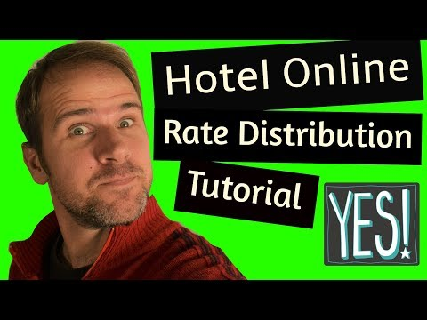 Hotel Revenue  Management: Hotel online rate distribution tutorial! Yes! (2018)