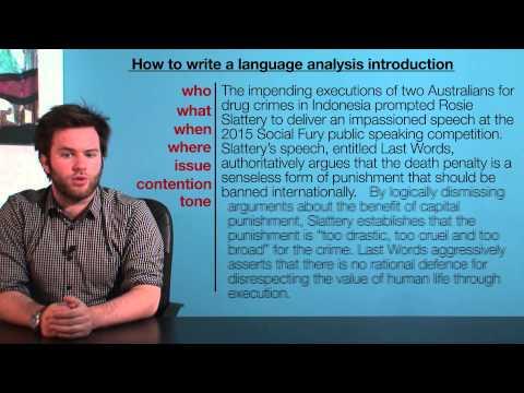 VCE English - Introductions (Language Analysis)
