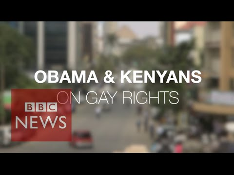 Kenyans react to Obama &39;blunt&39; stance on gay rights - BBC News
