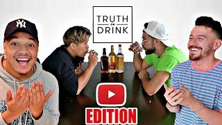 TRUTH OR DRINK: YouTuber Edition (Cut Parody) FT. DAVID PARODY, ITSYEBOI & More