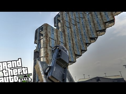 The Impossible Spiral Challenge! Large Spiral Mod - Grand Theft Auto 5 PC Spiral Ramp Mod!