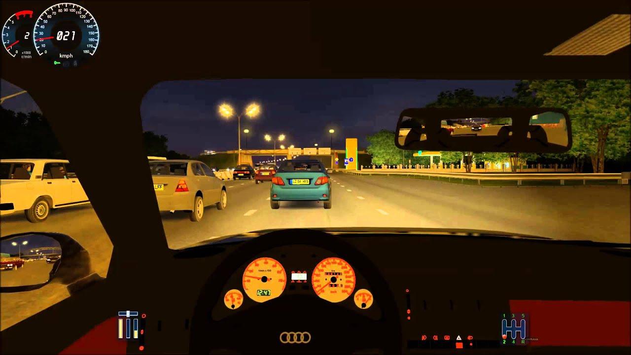City Car Driving Audi Rs2 Avant Traffic Jam Youtube