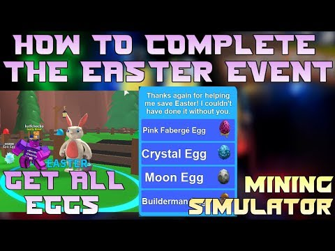 HOW TO COMPLETE THE EASTER EVENT IN MINING SIMULATOR | BEST METHOD | GET ALL EGGS IN 5 MINS | ROBLOX