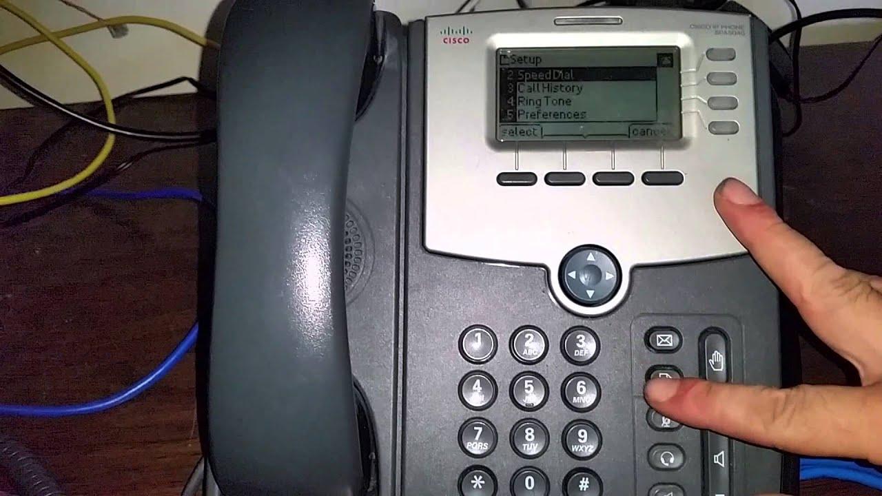 Factory reset cisco spa phones (spa504, 508, 303)