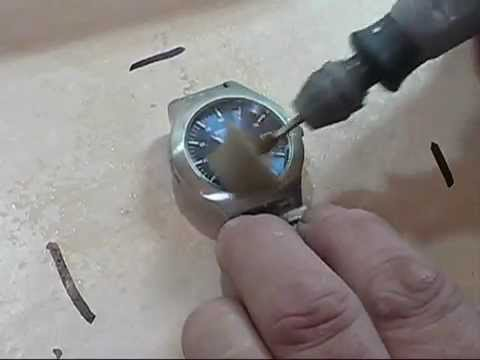 Watch Crystal Glass Scratch Removal Polishing Using The