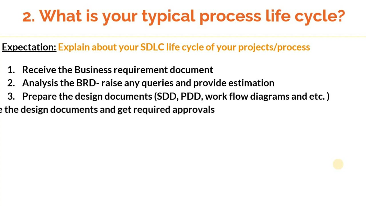How to answer 'What is your typical process life cycle' in RPA interviews ?
