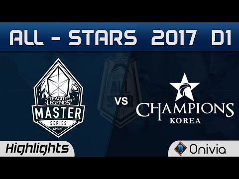 LMS vs LCK Highlights ALL Stars 2017 Day 1 by Onivia