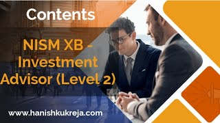 NISM XB - Contents and Exam Pattern