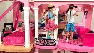 Barbie Dream House PINK 24-Hour Challenge Blindfolded!!