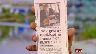 Donald Trump's doctor hides veg in his food (USA) - BBC News - 27th February 2020