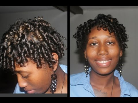 Short Hair Straw Set Flexi Rods Relaxed Hair Youtube