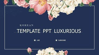 Gambar cover Vintage luxury floral background Korea |Template Powerpoint free download