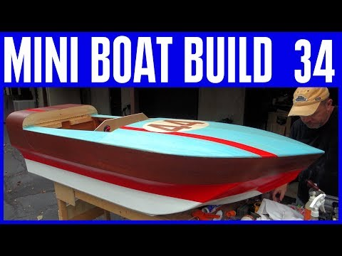 How to Build a Mini Boat 34 The Horn, Batteries, Designing the Deck & More