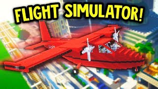 ULTRA REALISTIC MINECRAFT FLIGHT SIMULATOR MOD SHOWCASE! *JOYSTICK CAM*