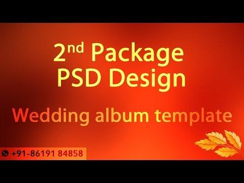 Wedding album psd design template 12x36