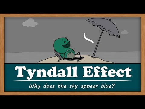 Tyndall Effect - Why does the sky appear blue? | #aumsum #kids #education #science #learn