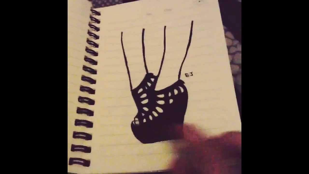 when im getting bored draw high heels youtube