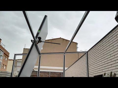 Fotos Cerramiento De Terraza Serie Renova CO 80 RPT Aluminio Lacado RAL 7016 Gris Antracita