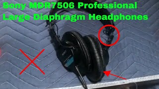 ✅  How To Use Sony MDR7506 Professional Large Diaphragm Headphones Review