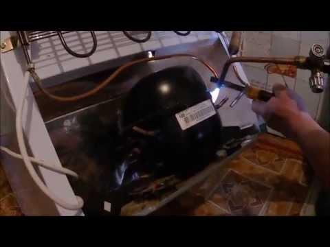 Холодильник включается и сразу отключается, замена компрессора / Refrigerator repair