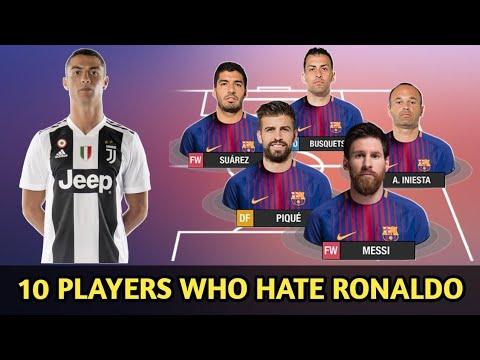 10 Players Who Hate Cristiano Ronaldo