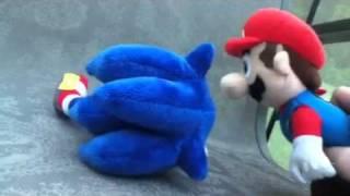 Mario and Sonic's plush adventures Sonic's injury