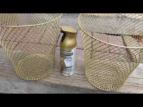 DIY SPRAY PAINT EVERYDAY HOUSEHOLD ITEMS