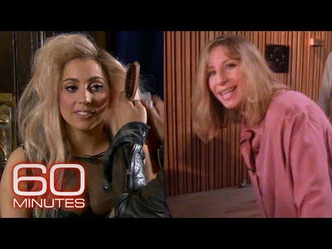 Lady Gaga and Barbra Streisand behind the scenes, decades apart