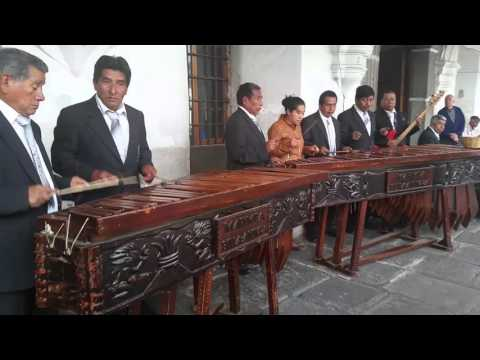 Some beautiful, traditional, marimba music in Antigua, Gautemala
