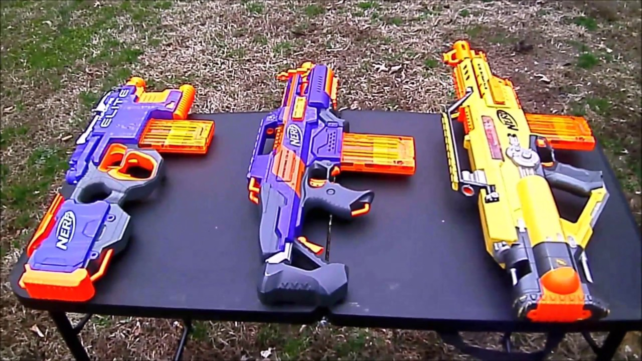 Nerf Full Auto Shootout Youtube