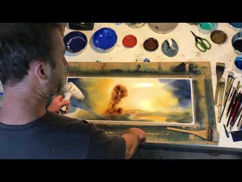 Scott Swinson Painting Large Watercolour Landscape Layers Gloaming Light