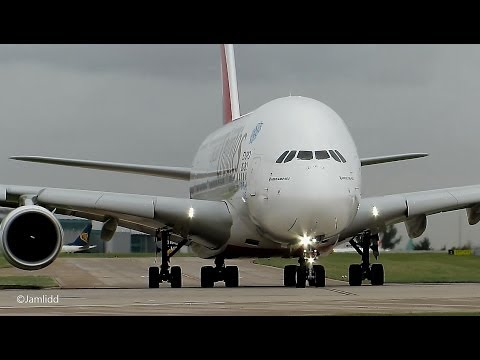 9 Very Close Takeoffs & Landings: A380, 777, 787, A330, 757, 767, A319 Manchester Airport