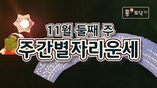 [홍테라타로/11월둘째주주간별자리운세]11월9일~11월 15일 11월 둘째주 주간별자리운세 타로