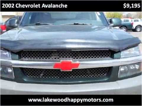 2002 chevrolet avalanche used cars lakewood co youtube for Happy motors inc lakewood co